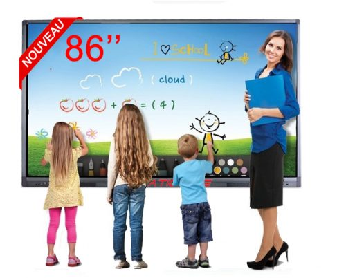 ÉCRAN ANDROÏDE TACTILE MULTI-TOUCH 4K 86″ 75″ 65″